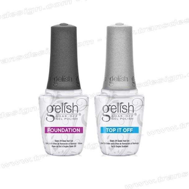 GELISH Dynamic Duo Foundation Base Gel + Top It Off Sealer Gel