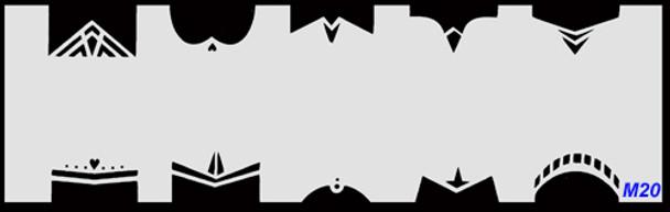 Stencil French M20