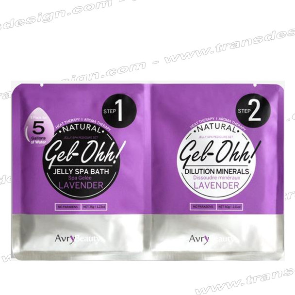 AVRY BEAUTY GEL-OHH! Natural Jelly Spa Pedicure Set LAVENDER