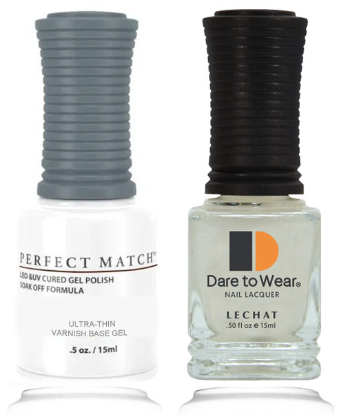 LECHAT PERFECT MATCH - Ultra-Thin Varnish Base Gel 2/Pack