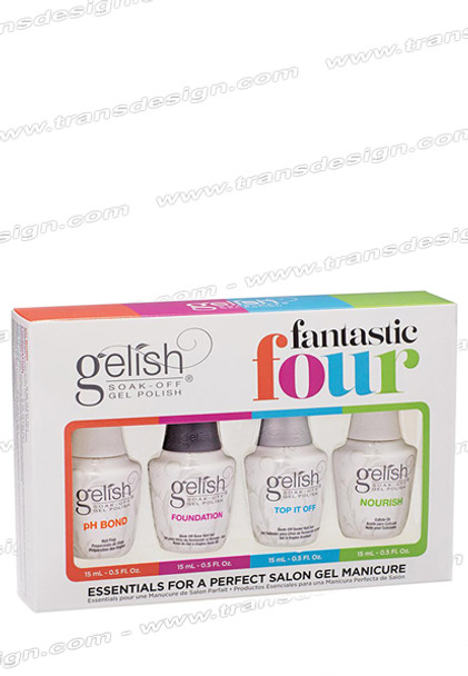 GELISH Fantastic Four Kit - pH Bond, Foundation, Top It Off and Nourish
