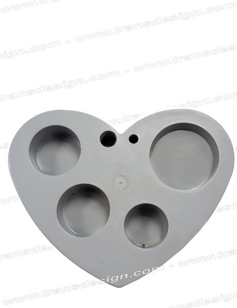 Heart Plastic Organizer GRAY