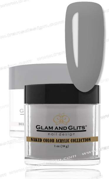 GLAM AND GLITS Naked Color Acrylic - Gray Gray 1oz.