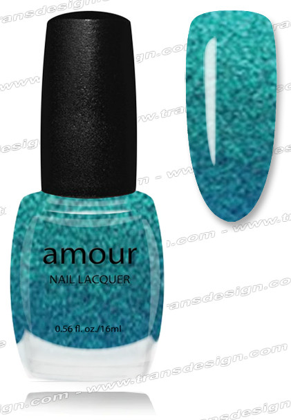 AMOUR Nail Lacquer - Blue Glitter 0.56oz
