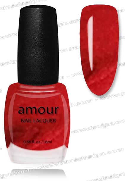 AMOUR Nail Lacquer - Sparkling Crimson 0.56oz
