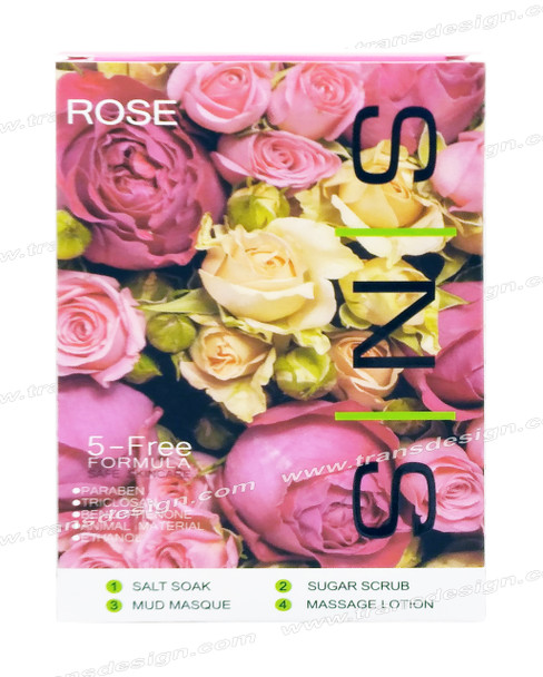 SNS Pedi in a Box Deluxe 4 STEP   Rose ( 25  Boxes/ Case )