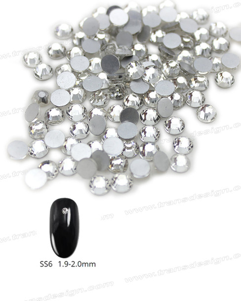 CRYSTAL RHINESTONE Crystal Clear SS6 144 Count/Pack