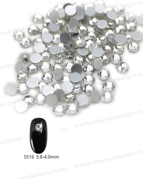 CRYSTAL RHINESTONE Crystal Clear SS16 72 Count/Pack