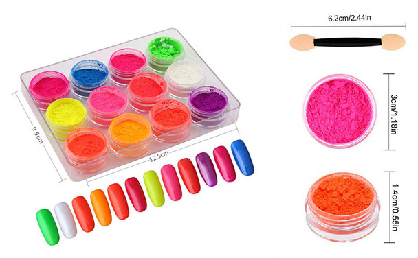 INSTANT Pigment Neon Color 12 Jar/Case