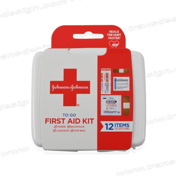 JOHNSON&JOHNSON 12 Items First Aid Kit