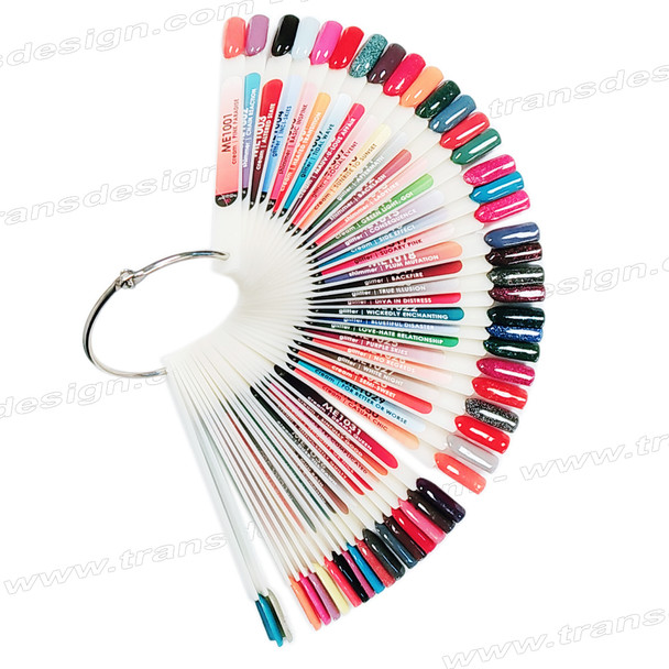 GLAM AND GLITTERS 48 Tips Color Chart ME1001 to ME1049