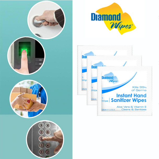 DIAMOND WIPES Instant Hand Sanitizer Wipes 10/Pack