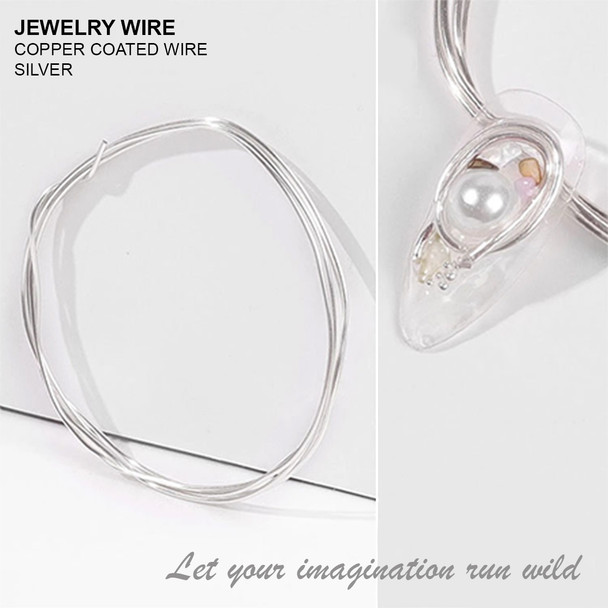 "JEWELRY WIRE Silver 0.02"" Diameter x 40"" Length"