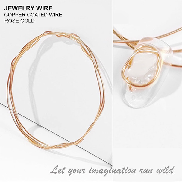 """JEWELRY WIRE Rose Gold 0.02"""" Diameter x 40"""" Length"""