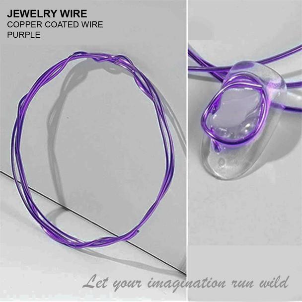 "JEWELRY WIRE Purple 0.02"" Diameter x 40"" Length"