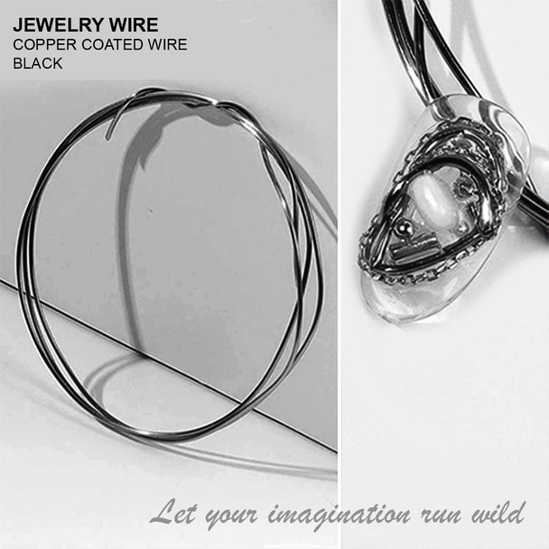 "JEWELRY WIRE Black 0.02"" Diameter x 40"" Length"