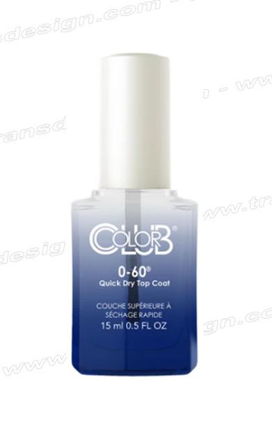 COLOR CLUB 0-60 Quick Dry Top Coat 0.5oz.