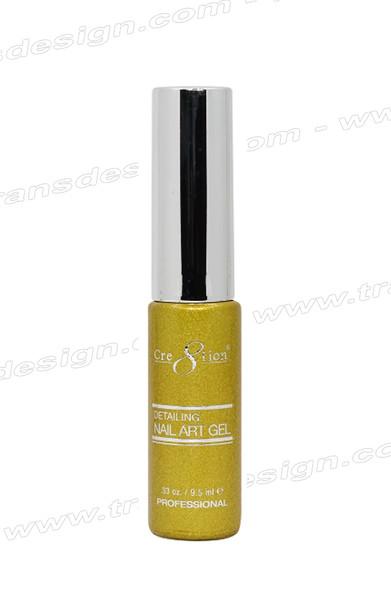 CRE8TION - Detailing Nail Art Gel #26 Gold Glitter 0.33oz.