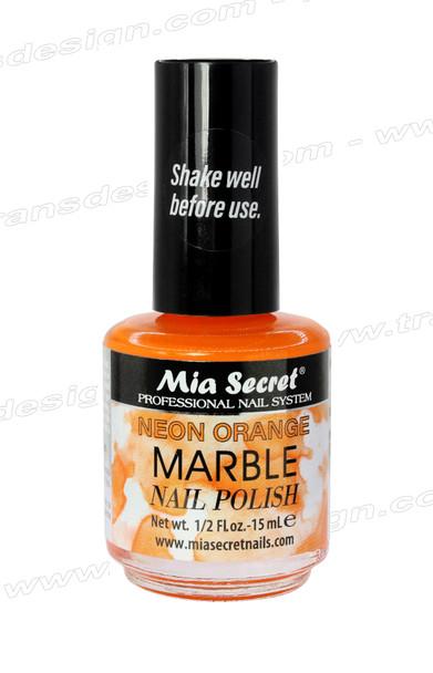 MIA SECRET Neon Orange Marble Nail Polish 0.5oz