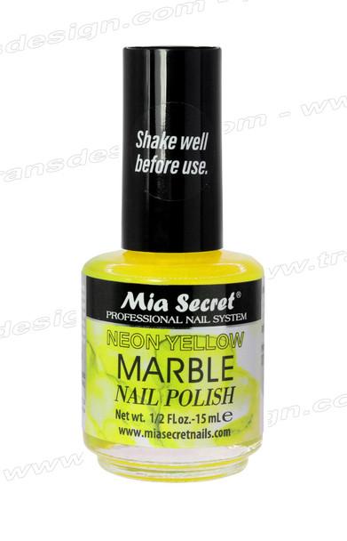 MIA SECRET Neon Yellow Marble Nail Polish 0.5oz