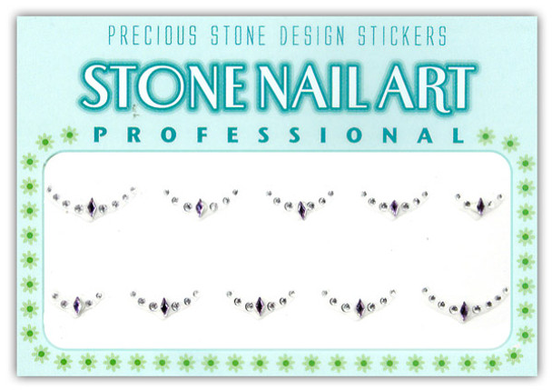 Stone Nail Art - Lt. Purple Diamond & Crystal Dots
