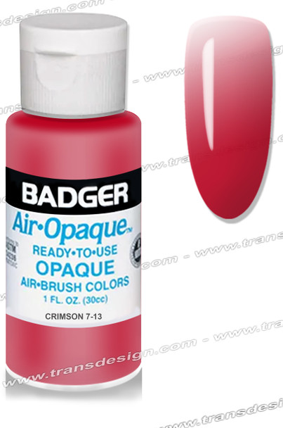 BADGER AIRBRUSH COLOR - Crimson 1oz.