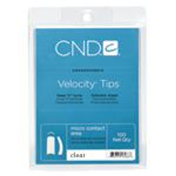 CND - Clear (Frost) Velocity Tips 100/Pack