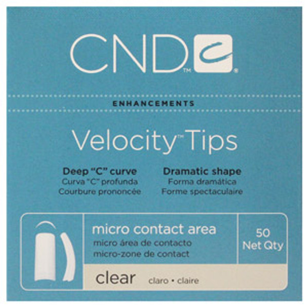 CND - Clear (Frost) Velocity Tips 50/Pack