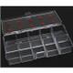 10-Slot Hard Plastic Small Clear Tip Box 72/Box