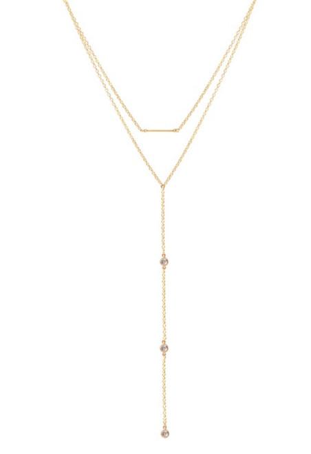 Gold Shipwreck Drop necklace