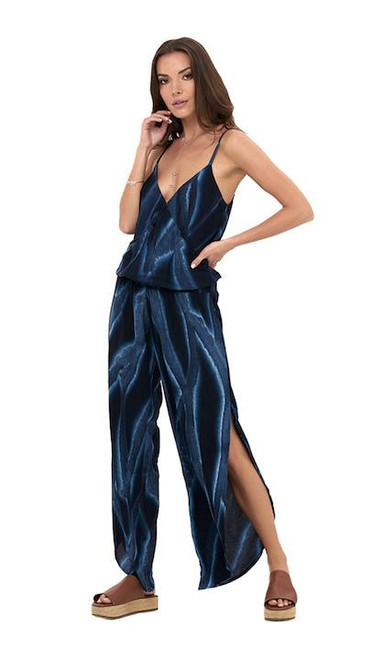Jumpsuit Shift in Tie Dye Navy