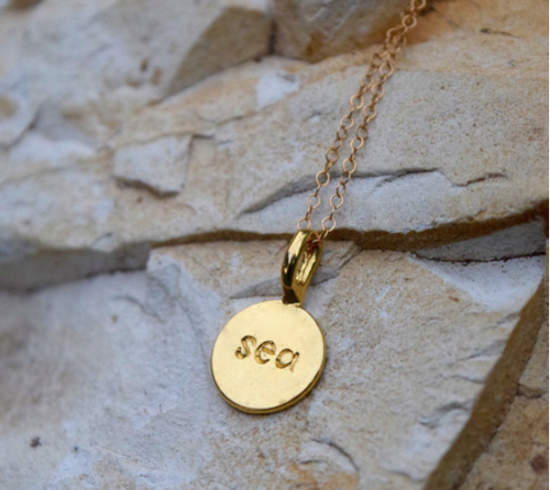 Sea Stamped necklace