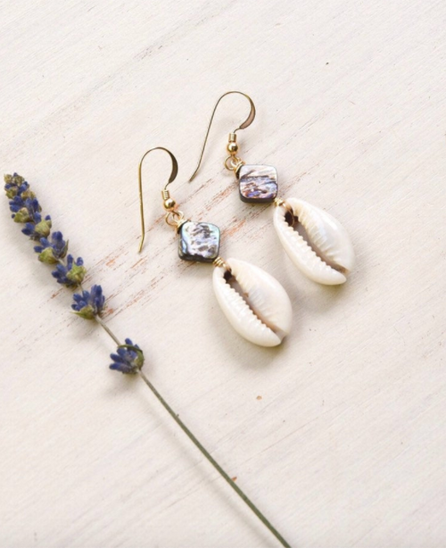 Cowrie Shell earrings