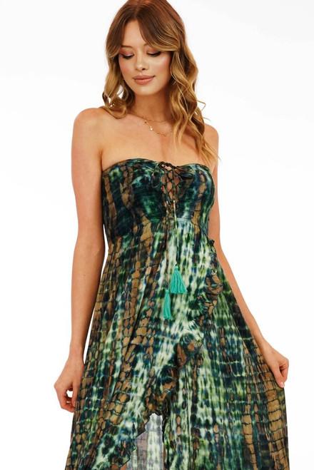 Flynn Maxi Dress in Leo Jade