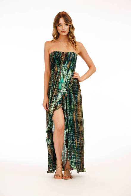 Flynn Maxi Dress in Leo Jade