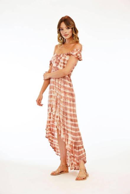 Brooklyn Dress in Sabia Peach/Mauve
