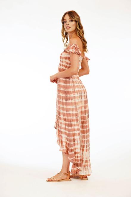 Brooklyn Dress in Sabia Peach/Mauve