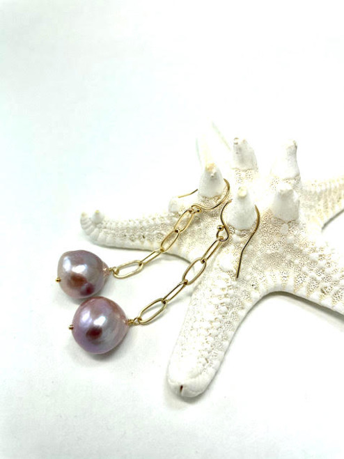 Edison Pearl Dangle Earrings