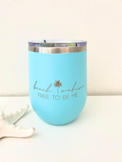Insulated Wine Tumbler  (12 oz.) - Turquoise