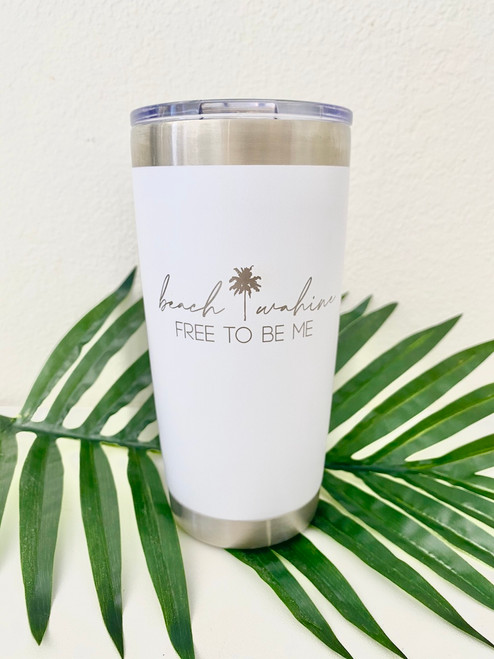 Insulated Coffee or Cocktail Tumbler  (20 oz.) - White