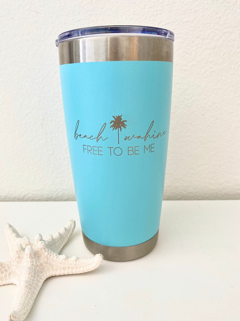 Insulated Coffee or Cocktail Tumbler  (20 oz.) - Turquoise