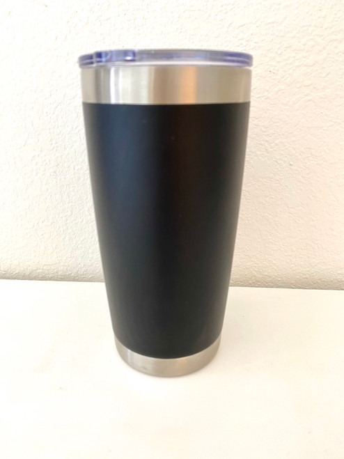 Insulated Coffee or Cocktail Tumbler  (20 oz.) - Black