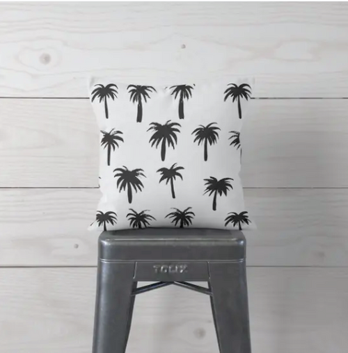 Palm Trees Pillow Cover