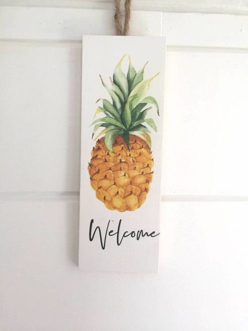 Pineapple Welcome Home Sign
