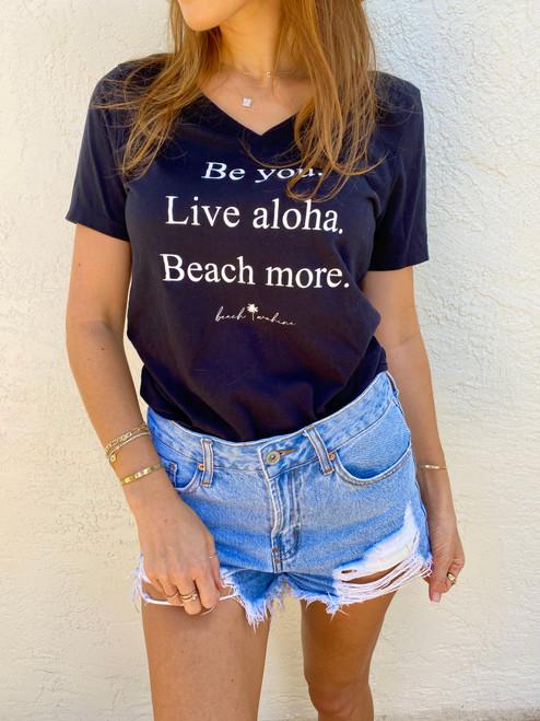 Beach Wahine Live Aloha Shirt