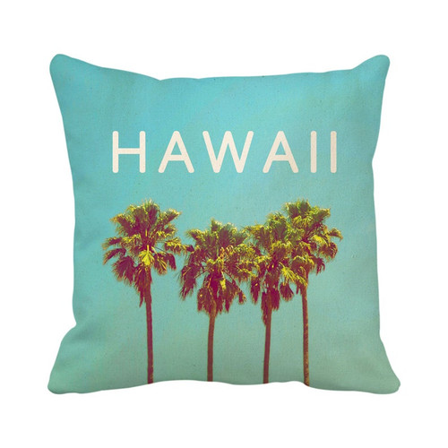 Hawaii Palm Trees Pillow Cover