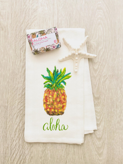 Aloha Soap & Pineapple Tea Towel Gift Set