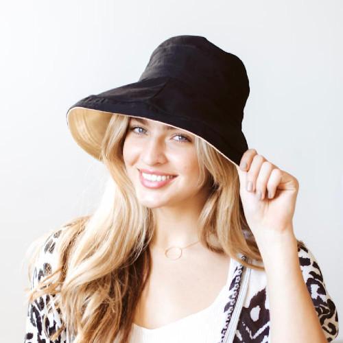 Wide Brim Reversible Bucket Hat