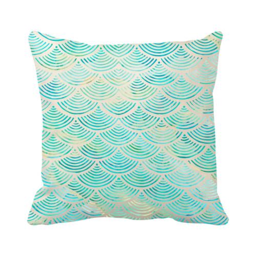 Mermaid Pillow Cover - Natural