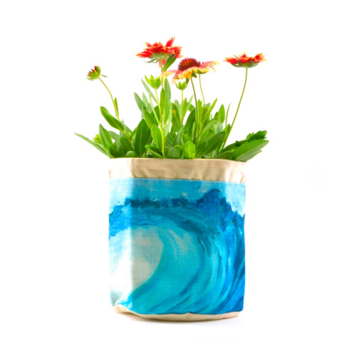 Blue Waves Plant Pouch
